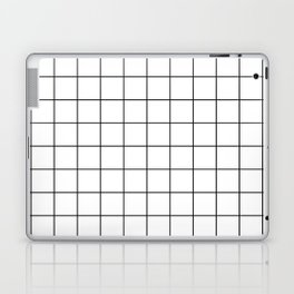Grid Pattern Stripes Lines Black and White Minimalist Geometric Stripe Line Laptop & iPad Skin