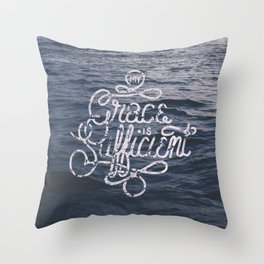 My Grace is Sufficient Throw Pillow