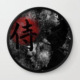 Kanji Samurai Grunge Wall Clock