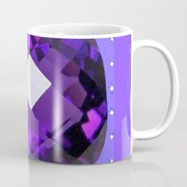 LILAC PURPLE AMETHYST FACETED GEM BIRTHSTONE ART Coffee Mug