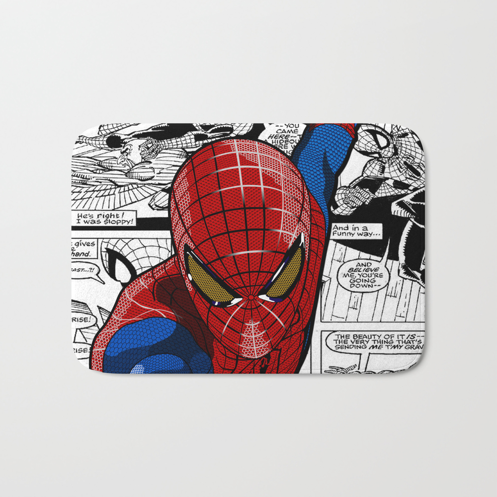 Spider-man Comic Bath Mat by Crhodes23 BMT681773