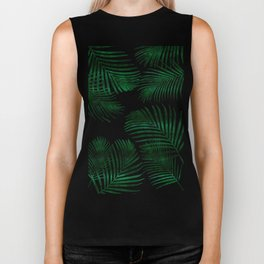 Tropical Palm Leaf Biker Tank