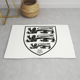 British Three Lions Crest Rug