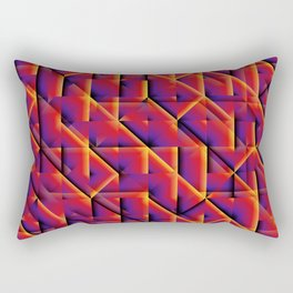 Magenta Abstract Dark Wall at Midnight Rectangular Pillow