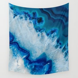 Royally Blue Agate Wall Tapestry