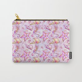 Pink Seahorses #2 Carry-All Pouch