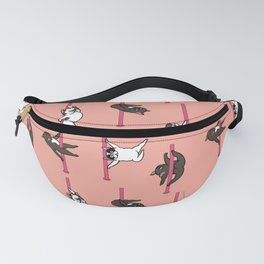 French Bulldog Pole Dancing Club Fanny Pack