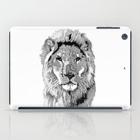 nfl iPad Cases featuring Animal Prints - Proud Lion - By Sharon Cummings by Sharon Cummings