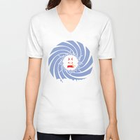 house md V-neck T-shirts featuring Dr. Oddball, MD by Remix Comix