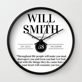 1   |  Will Smith Quotes | 190905 Wall Clock