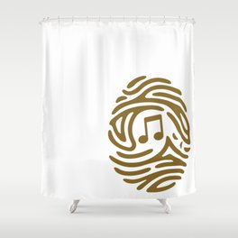 PERSONAL MUSIC Shower Curtain