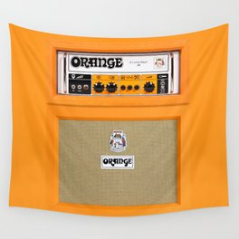 Bright Orange color amplifier amp Wall Tapestry