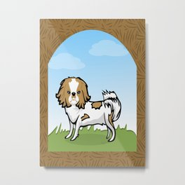 Brown Chin Dog Metal Print