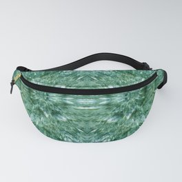 Abstract Kaleidoscope Green Mineral Crystal Texture Fanny Pack