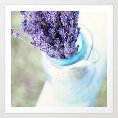 lavender bouquet Art Print