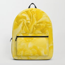 Yellow Peony Petals in Close-up #decor #society6 #buyart Backpack