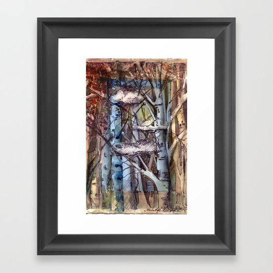 Clouds in the Trees Framed Art Print