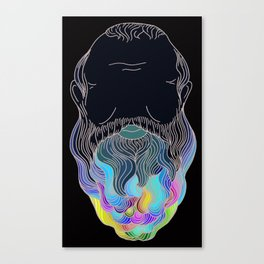 Secrets in Socrates Beard: Real Color Canvas Print