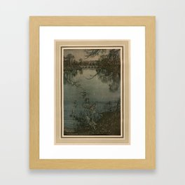 Arthur Rackham (1907) - The Serpentine is a lovely lake Framed Art Print