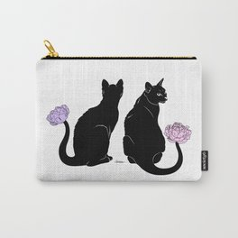 Flower Cats Carry-All Pouch