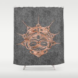 Copper Frog Smoke Shower Curtain
