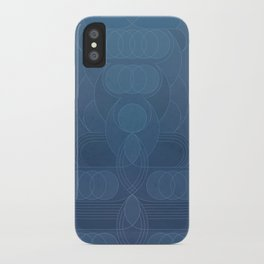Round and About Blue Gray iPhone Case