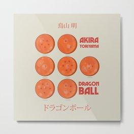 Dragon Ball, A. Toriyama manga, alternative movie poster, cult anime, Japanese wall art. Metal Print