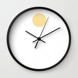 sun in hand Wall Clock