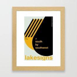 Lakesigns Poster - SXSW 2012 (2 of 4) Framed Art Print