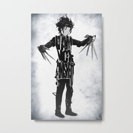 Edward Scissorhands - Johnny Depp Metal Print