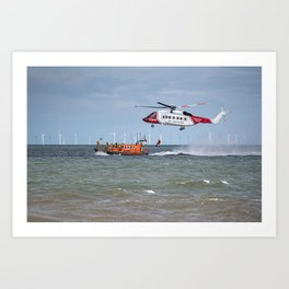 Rhyl Air Sea Rescue Art Print