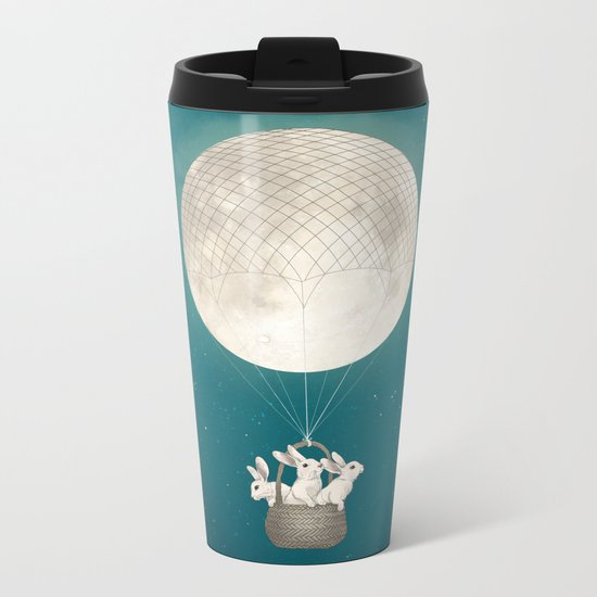 moon bunnies Metal Travel Mug