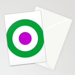 Green and Purple Mod - Retro Target Stationery Cards
