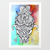 antler Art Prints featuring Antler by jorq