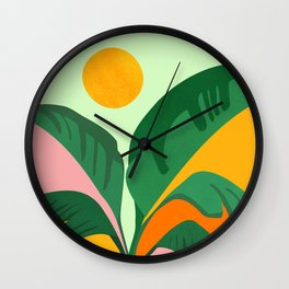 Things Are Looking Up / Tropical Greenery Wall Clock