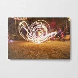 Fire Dancer  Metal Print