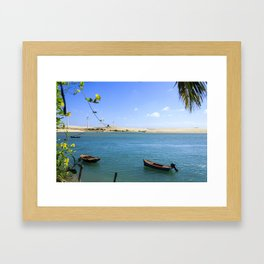 River and beach meeting on Brazil Framed Art Print