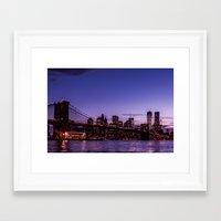brooklyn bridge Framed Art Prints featuring Brooklyn Bridge by hannes cmarits (hannes61)