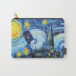 Tardis Starry Night Castle Carry-All Pouch