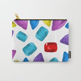 Ruby One Crystal - Precious Stones Abstraction Carry-All Pouch