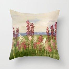 purple flowers lilacs Throw Pillow