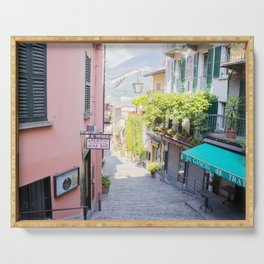 Bellagio stairway, Lake Como, Italy Serving Tray
