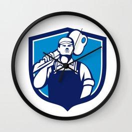 Locksmith Carry Key Shoulder Crest Retro Wall Clock