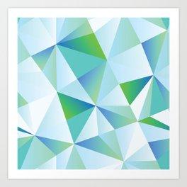Ice Shards abstract geometric angles pattern Art Print
