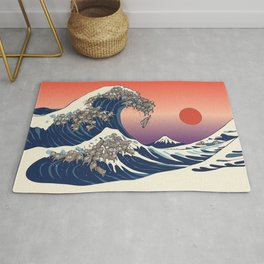 The Great Wave of Sloth Rug