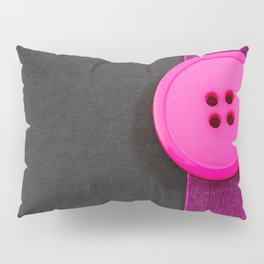 Pink Button and Ribbon Pillow Sham