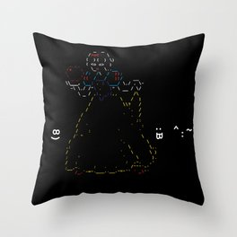 Snow White and the 7 Emoticons Throw Pillow
