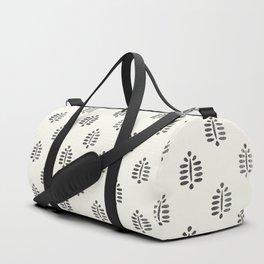 block print palm  Duffle Bag