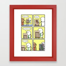Antics #209 - appreciation for the human form Framed Art Print