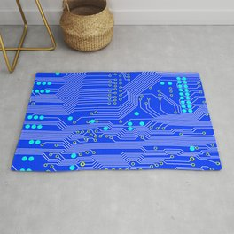 Blue Circuit Board  Rug